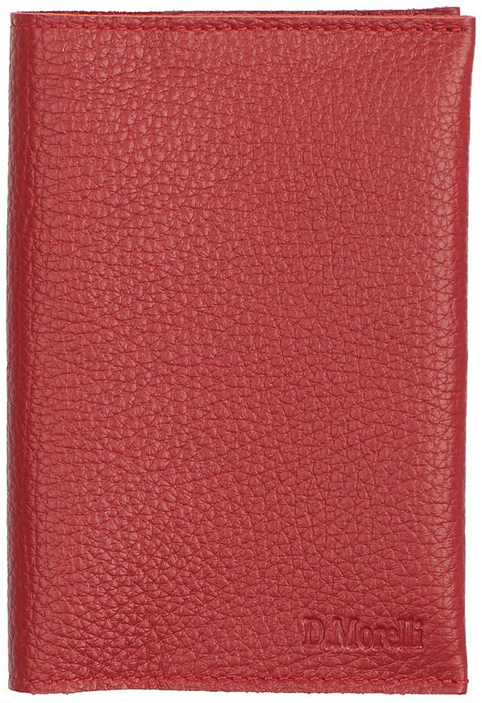 Обложка для паспорта женская D. Morelli Монтана, цвет: красный. DM-PS05-F035