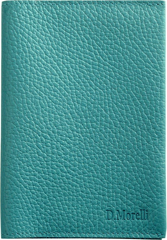 Обложка для паспорта женская D. Morelli Монтана, цвет: бирюзовый. DM-PS05-F076 обложки domenico morelli обложка для паспорта с отделением для карт эльза принт колибри