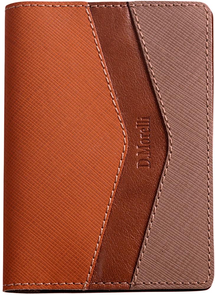 Обложка для паспорта женская D. Morelli Верона, цвет: оранжевый