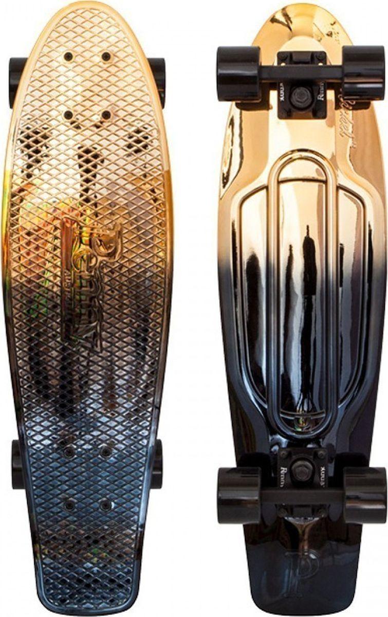 Пенни борд Penny Nickel, цвет: золотистый, дека 27PNYCOMP27373Сочетание освежающих цветов позволяет легко представить себя путешествующим на этом скейтборде где-нибудь по залитым солнцем улицам. Penny NICKEL27 олицетворяет собой свободу высокого качества!