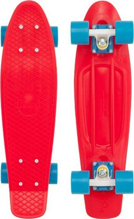 Пенни борд Penny Original, цвет: красный, дека 22. PNYCOMP103PNYCOMP103Penny Original 22 - это классика из 70-х. Это то, с чего всё началось, вся идея Penny в одном скейтборде. Это веселье, свобода и самое высокое качество всех компонентов. Основное достоинство данной модели - универсальность, ведь размер, вес и легкость в управлении делает скейтборд прекрасным средством передвижения в любой день и в любых условиях.