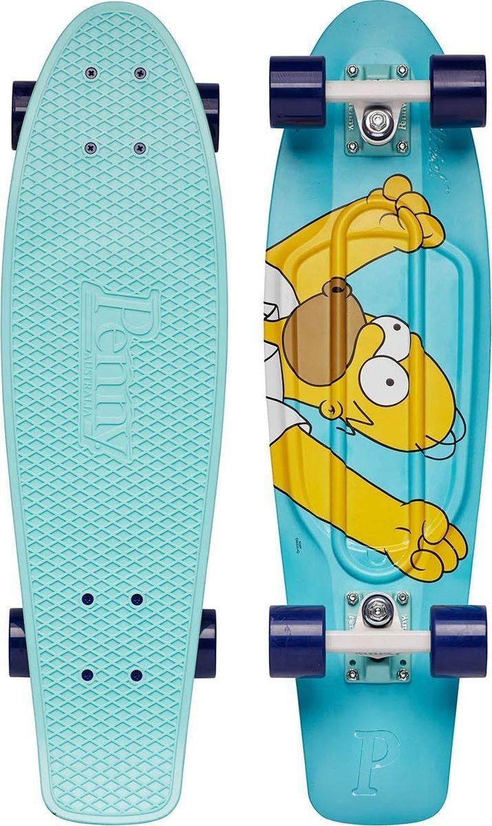 Пенни борд Penny Simpsons, цвет: голубой, дека 27. PNYCOMP27375PNYCOMP27375Ограниченный тираж лонгбордов Penny Simpsons 27 с любимыми персонажами. Превосходное сцепление, высокое качество материалов. Составьте компанию героям Спрингфилда получив максимум фана!
