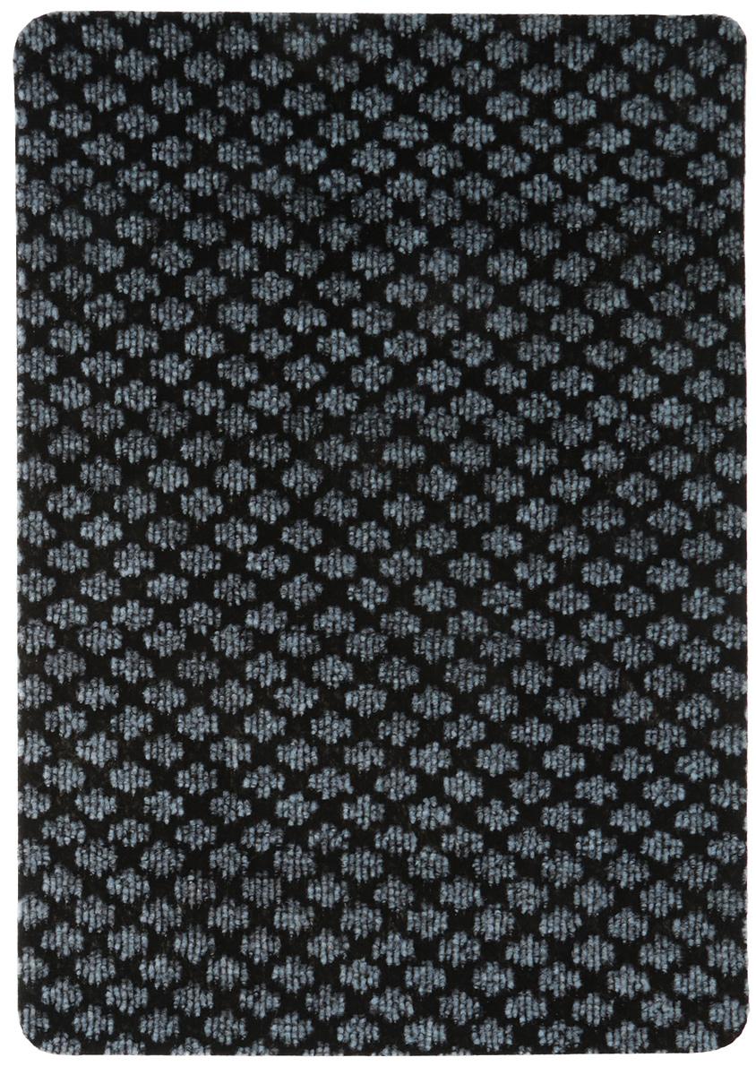 Коврик придверный Vortex Siesta, цвет: черный, серый, 40 х 60 см. 22389 коврик придверный vortex листья 76 46 см