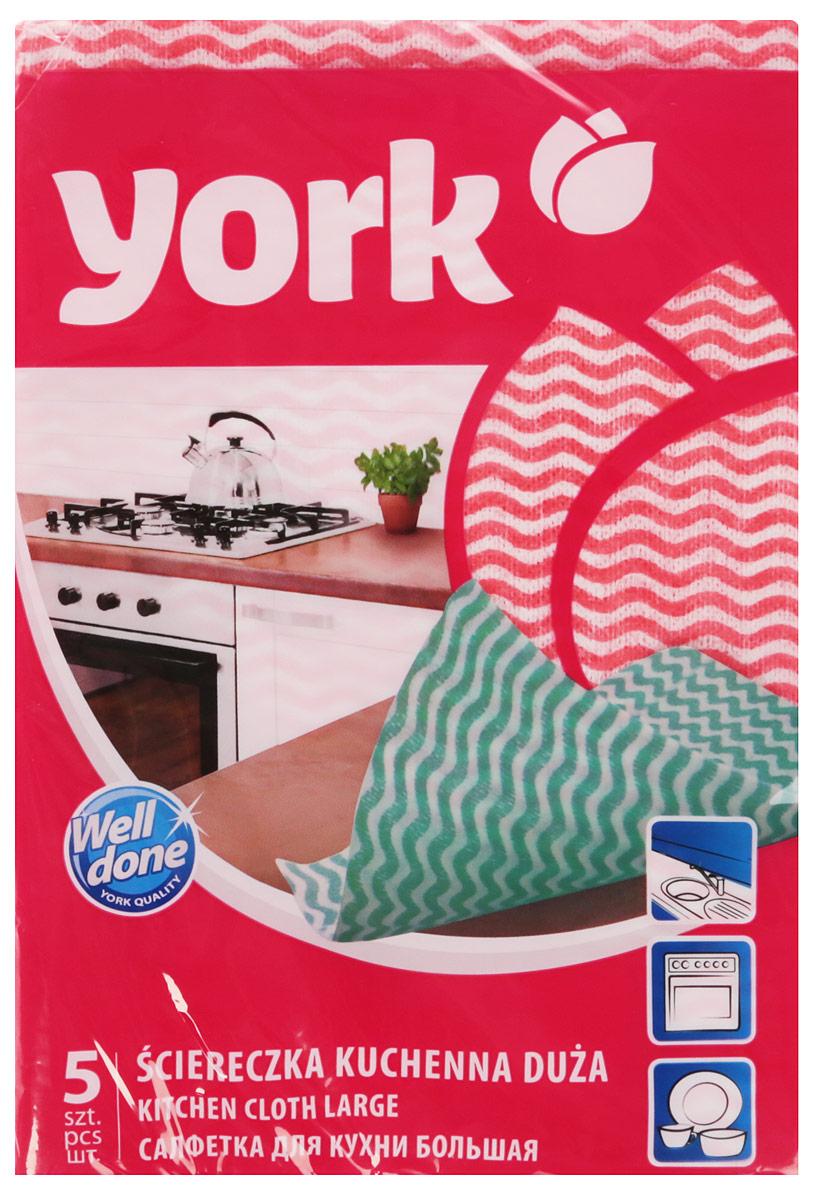 Салфетка для кухни York Макарена, цвет: розовый, 35 см х 50 см, 5 шт набор салфеток для кухни loks цвет розовый 40 см х 40 см 3 шт nl100504