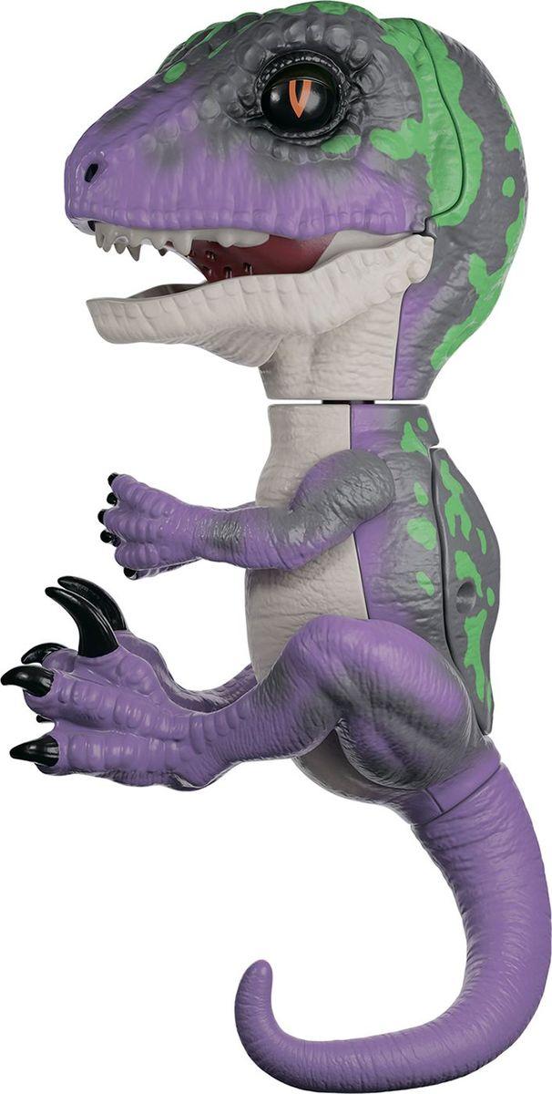 Fingerlings Интерактивная игрушка Динозавр цвет фиолетовый темно-зеленый 12 см
