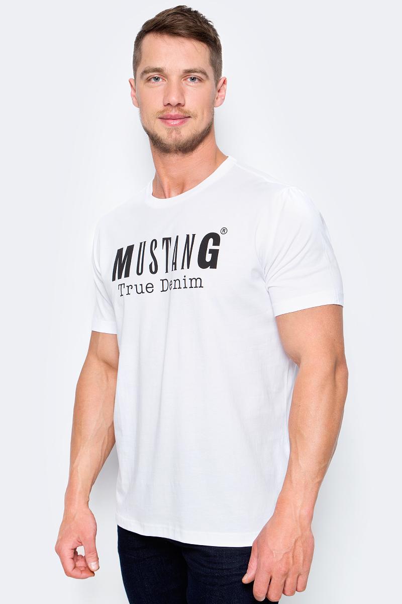 Футболка мужская Mustang Logo Special Tee, цвет: белый. 1005872-2045. Размер 3XL (56) футболка мужская mustang цвет белый 1005546 10971 размер xxxl 56