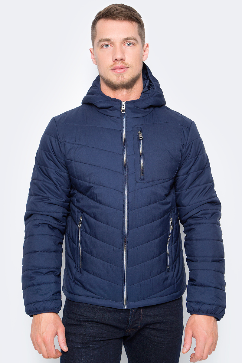 Куртка мужская Sela, цвет: темно-синий. Cp-226/424-8142. Размер S (46)Cp-226/424-8142