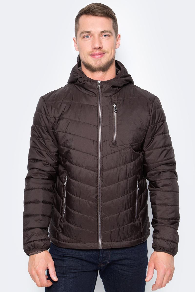 Куртка мужская Sela, цвет: шоколадный. Cp-226/424-8142. Размер L (50)Cp-226/424-8142