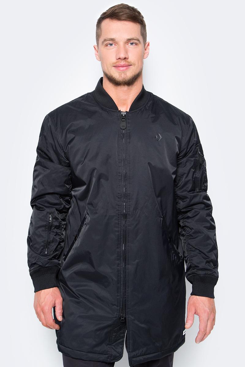 Куртка мужская Converse Cons Varsity Coaches Jacket, цвет: черный. 10005114001. Размер M (48)