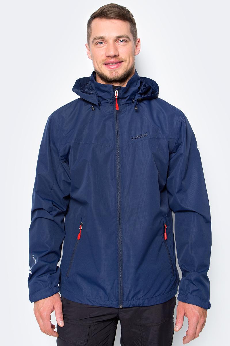 Куртка мужская Rukka, цвет: темно-синий. 979306291RV_385. Размер XXL (56)979306291RV_385Куртка от Rukka выполнена из плотного материала. Модель с длинными рукавами, воротником-стойкой и съемным капюшоном застегивается на молнию, по бокам имеются карманы на молниях. Рукава по низу дополнены хлястиками на липучках.