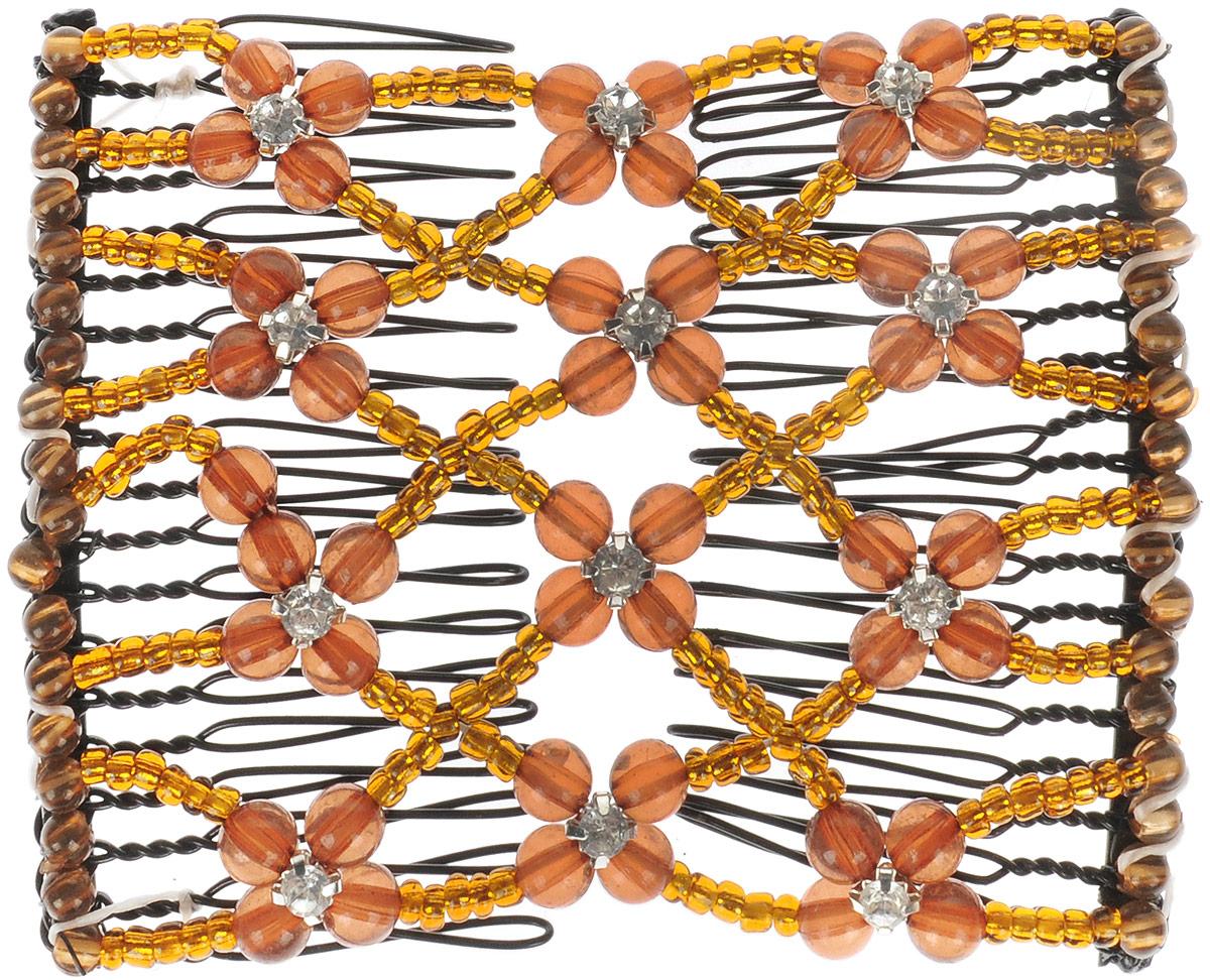 EZ-Combs Заколка Изи-Комбс, одинарная, цвет: коричневый ez combs заколка изи комбс одинарная цвет коричневый зио сердечки