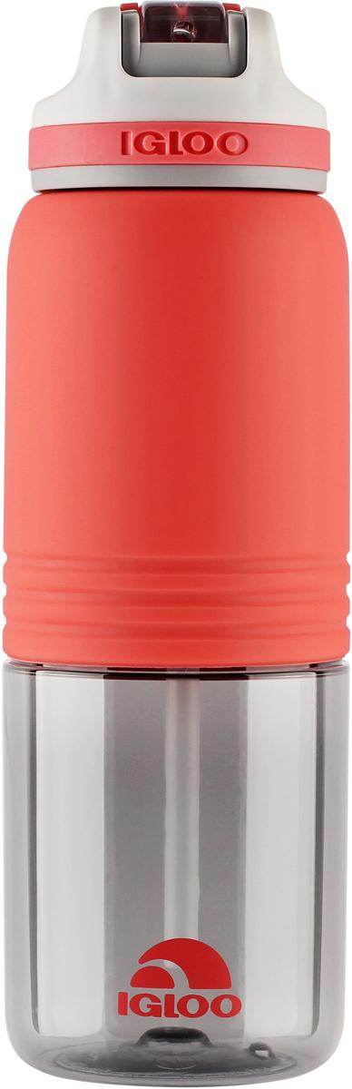 Бутылка для воды Igloo Swift, цвет: розовый, 710 мл170385Большая герметичная пластиковая бутылка для воды Igloo Swift обладает высокой прочностью и продуманным функционалом, подходит для ежедневного использования. Оснащена откидным силиконовым поильником, защитной крышкой для гигиеничной эксплуатации и встроенной в крышку петлей для комфортной переноски в руке. Объем: 710 мл.