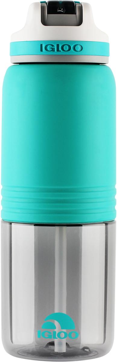 Бутылка для воды Igloo Swift, цвет: зеленый, 1,065 л бутылка гантеля спортивная irontrue цвет зеленый 2 2 л
