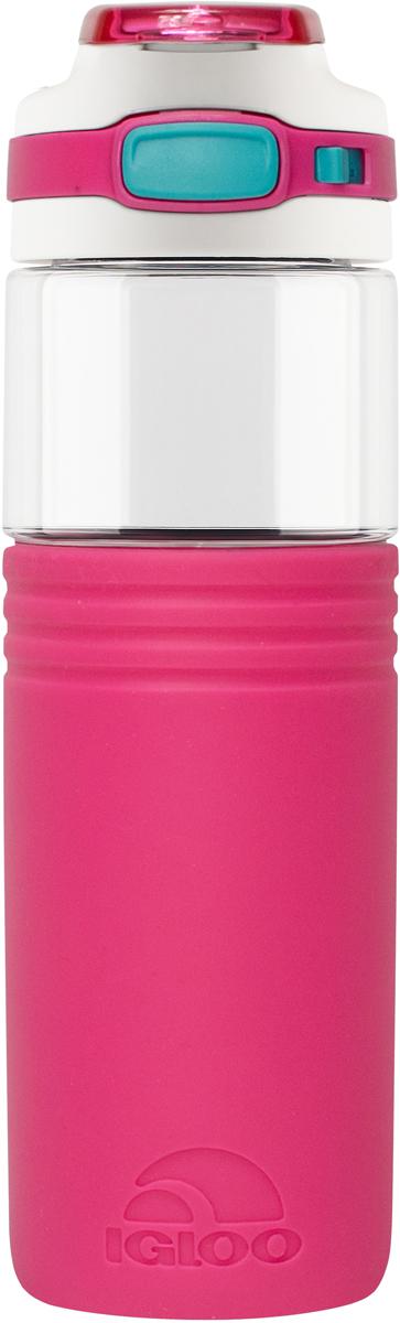 Бутылка для воды Igloo Tahoe, цвет: розовый, 710 мл170388Большая герметичная пластиковая бутылка для воды Igloo Tahoe обладает высокой прочностью и продуманным функционалом, подходит для ежедневного использования. Оснащена откидной пробкой, фиксатором закрытого положения и встроенной в крышку ручкой для переноски. Объем: 710 мл.