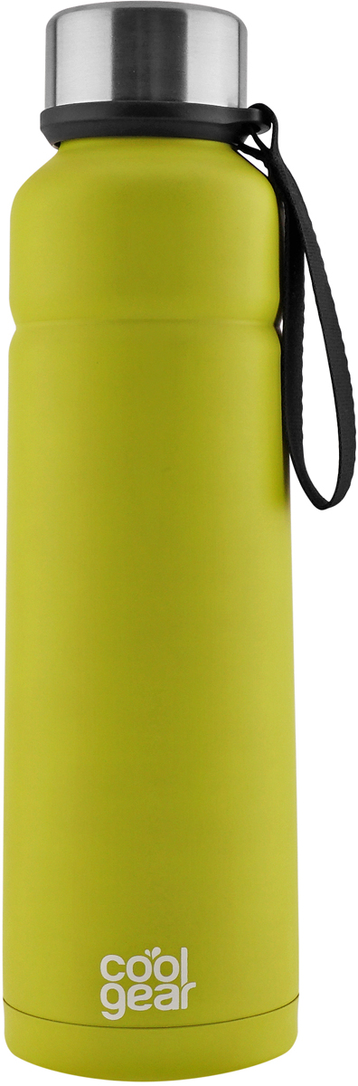 Термос CoolGear Cayambe, с вакуумной изоляцией, цвет: зеленый, 710 мл5001850Термос CoolGear выполнен из нержавеющей стали с вакуумной изоляцией. Модель дополнена встроенным ремнем для переноски и стойкой к ударам крышкой, изготовленной из пластика. Термос прекрасно подойдет для ежедневного использования или занятий спортом.