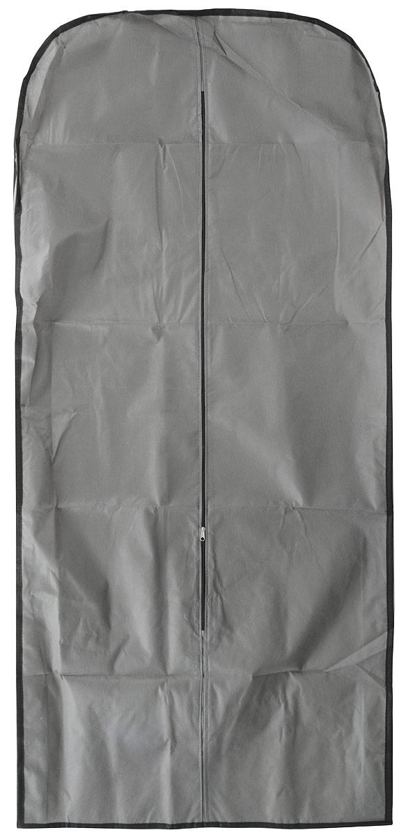 Чехол для одежды Eva, объемный, цвет: серый, 140 х 65 х 10 см лежанка для животных добаз цвет светло розовый серый 65 х 65 х 20 см