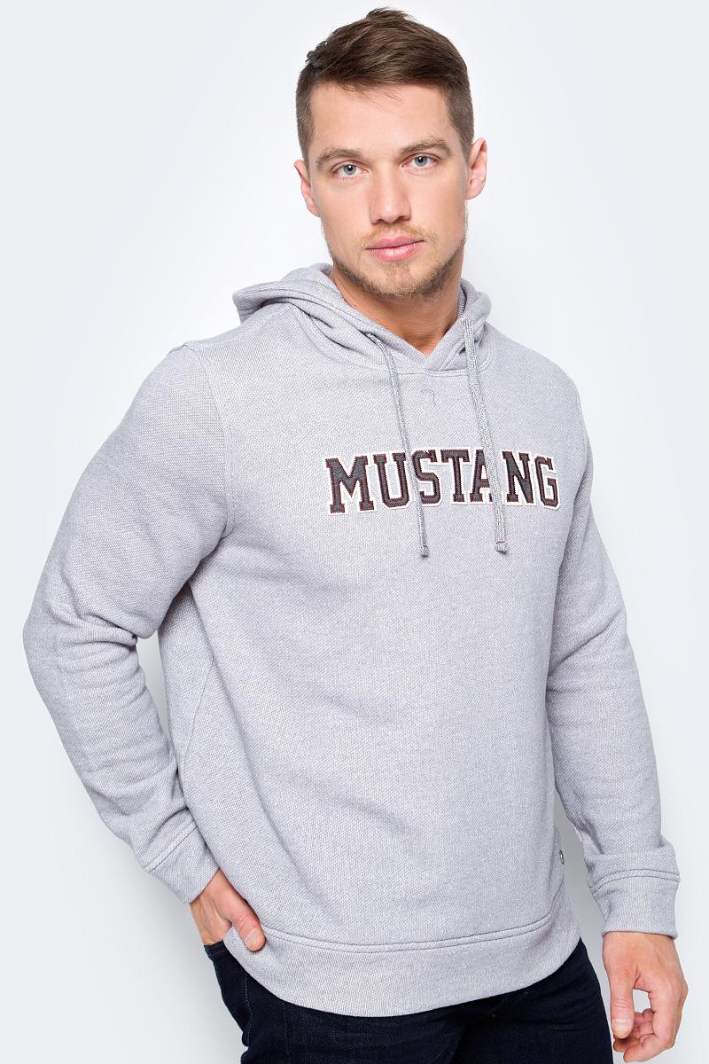 Толстовка мужская Mustang Fancy Hoody, цвет: серый. 1005467-4140. Размер XL (52)1005467-4140