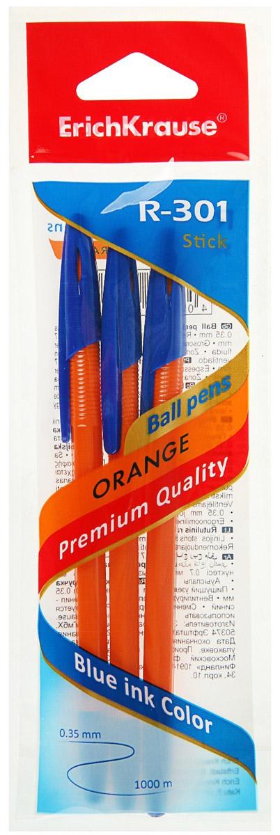Erich Krause Набор шариковых ручек R-301 Orange 0.7 Stick 3 шт 42743 mazari набор шариковых ручек ivy цвет синий 6 шт