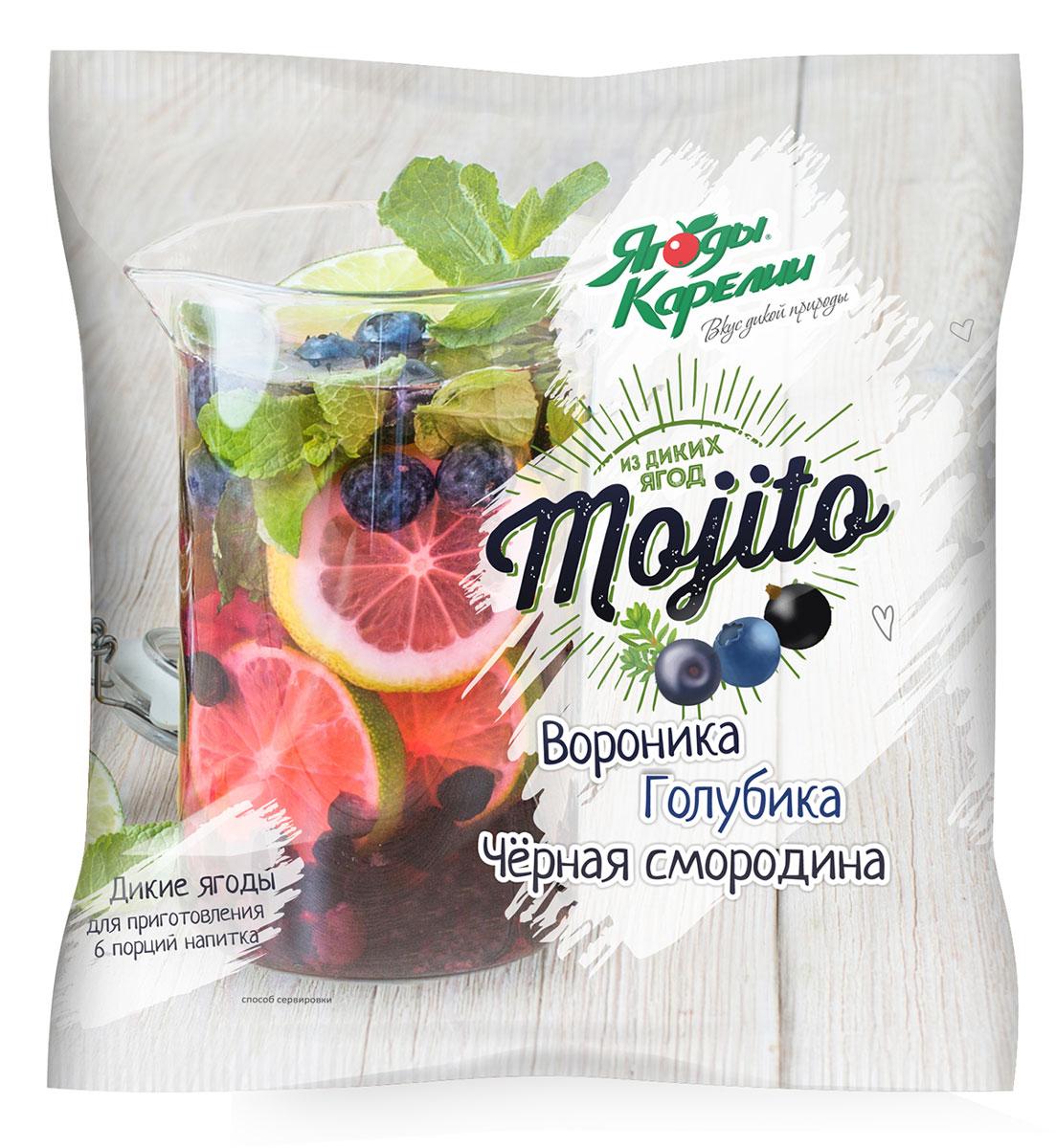 Ягоды Карелии Ягодное Мохито, смесь ягодная быстрозамороженная, 300 г Ягоды Карелии