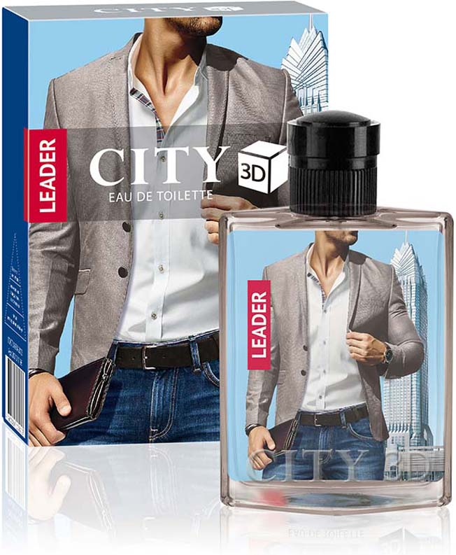City Parfum Туалетная вода CITY 3D Leader, 90 мл