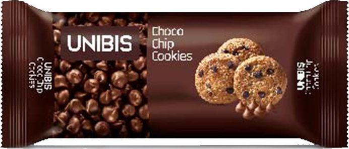 Unibis Chocolate Chip Cookies Печенье с шоколадной крошкой, 75 г пюре фрутоняня пюре из индейки с овощами с 8 мес 100 г