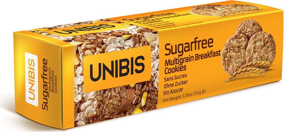 Unibis Sugar free Multigrain cookies Печенье из мульти зерновой муки без сахара, 150 г unibis pista badam cookies печенье с миндалем и фисташками 75 г