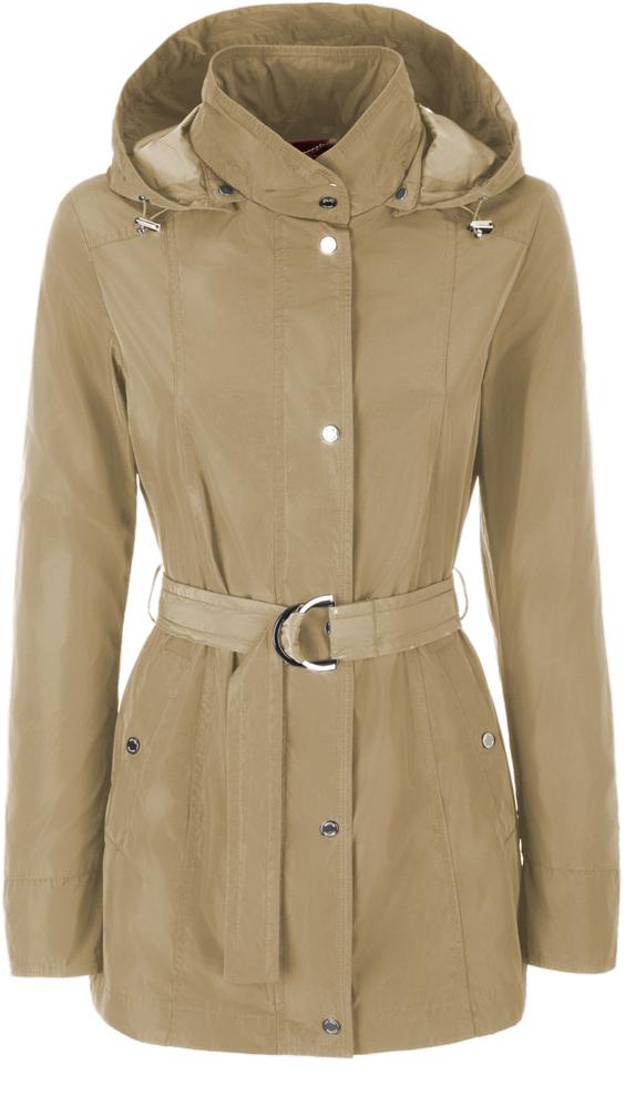 Куртка женская Geox, цвет: бежевый. W8220ST2415F5152. Размер 54 (56)W8220ST2415F5152Стильная женская удлиненная куртка Geox выполнена из высококачественного плотного материала, рассчитана на прохладную погоду.Модель приталенного силуэта со съемным капюшоном и длинными рукавами, застегивается на кнопки по всей длине. На талии предусмотрен пояс с металлической пряжкой. Эта модная куртка послужит отличным дополнением к вашему гардеробу.
