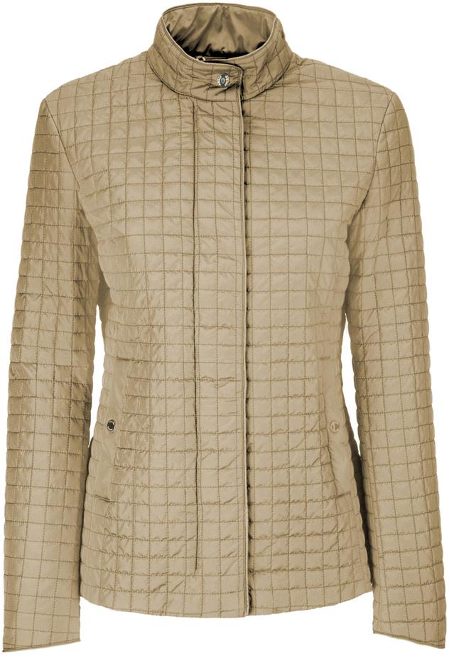 Куртка женская Geox, цвет: бежевый. W8220TT2414F5152. Размер 48 (50)W8220TT2414F5152Утепленная женская куртка Geox выполнена из высококачественного плотного материала, рассчитана на прохладную погоду. Модель с длинными рукавами и воротником-стойкой, надежно защищающим от ветра.Спереди расположены два прорезных кармана, застегивающиеся на кнопку. Эта модная куртка послужит отличным дополнением к вашему гардеробу.