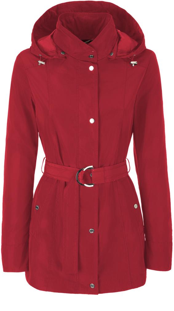 Куртка женская Geox, цвет: красный. W8220ST2415F7162. Размер 38 (40)W8220ST2415F7162Стильная женская удлиненная куртка Geox выполнена из высококачественного плотного материала, рассчитана на прохладную погоду.Модель приталенного силуэта со съемным капюшоном и длинными рукавами, застегивается на кнопки по всей длине. На талии предусмотрен пояс с металлической пряжкой. Эта модная куртка послужит отличным дополнением к вашему гардеробу.