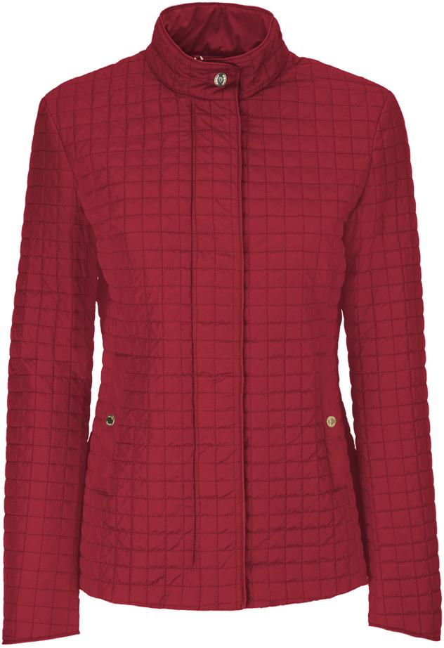 Куртка женская Geox, цвет: красный. W8220TT2414F7162. Размер 48 (50)W8220TT2414F7162Утепленная женская куртка Geox выполнена из высококачественного плотного материала, рассчитана на прохладную погоду. Модель с длинными рукавами и воротником-стойкой, надежно защищающим от ветра.Спереди расположены два прорезных кармана, застегивающиеся на кнопку. Эта модная куртка послужит отличным дополнением к вашему гардеробу.