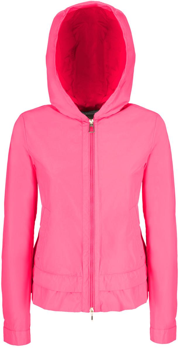 Куртка женская Geox, цвет: розовый. W8220VT2415F8237. Размер 38 (40)W8220VT2415F8237Стильная женская куртка Geox с несъемным капюшоном выполнена из высококачественного плотного материала, рассчитана на прохладную погоду.Модель с длинными рукавамизастегивается на застежку-молнию. По бокам - внутренние карманы. Эта модная куртка послужит отличным дополнением к вашему гардеробу.