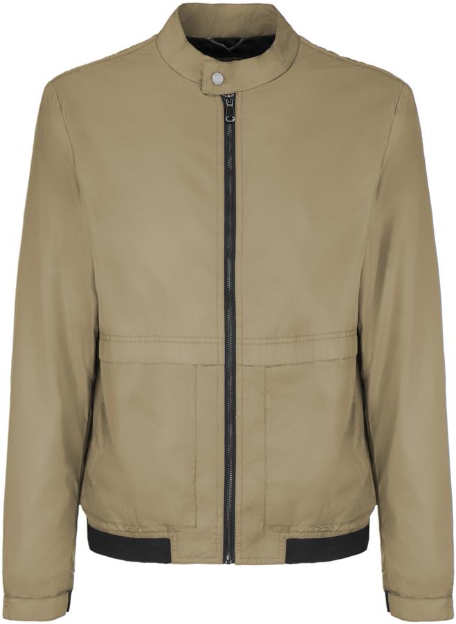 Куртка мужская Geox, цвет: бежевый. M8220QT2446F5153. Размер 48M8220QT2446F5153Мужскаякуртка Geoxвыполнена из высококачественного материала. Модель с воротником-стойкой и длинными рукавами застегивается на застежку-молнию спереди. Спереди куртка дополнена двумя врезными карманами.