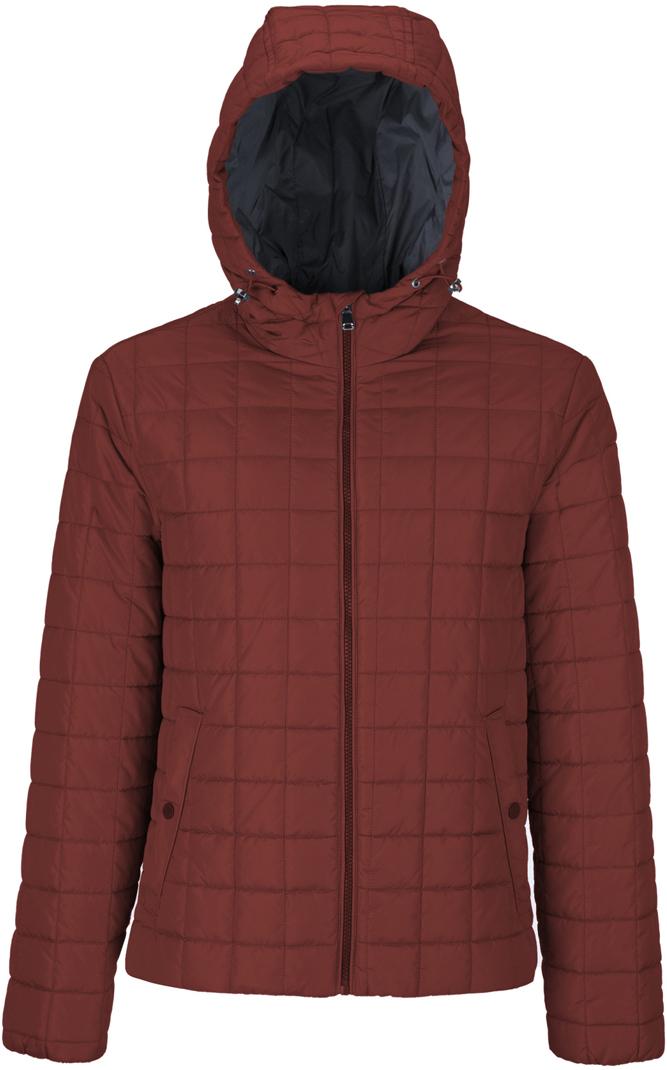 Куртка мужская Geox, цвет: коричнево-красный. M8221JT2422F7411. Размер 56 куртка мужская geox цвет темно зеленый m8223et2455f3180 размер 56