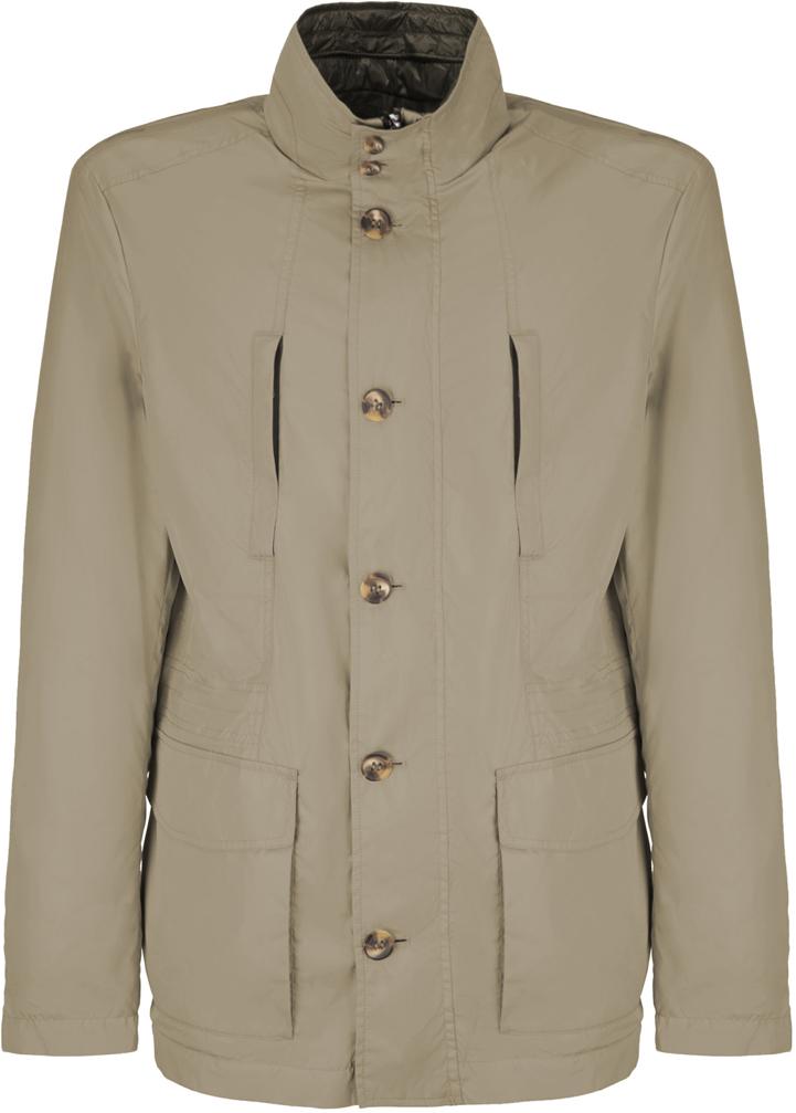 Куртка мужская Geox, цвет: бежевый. M8221GTC112F5157. Размер 56 куртка мужская geox цвет темно зеленый m8223et2455f3180 размер 56