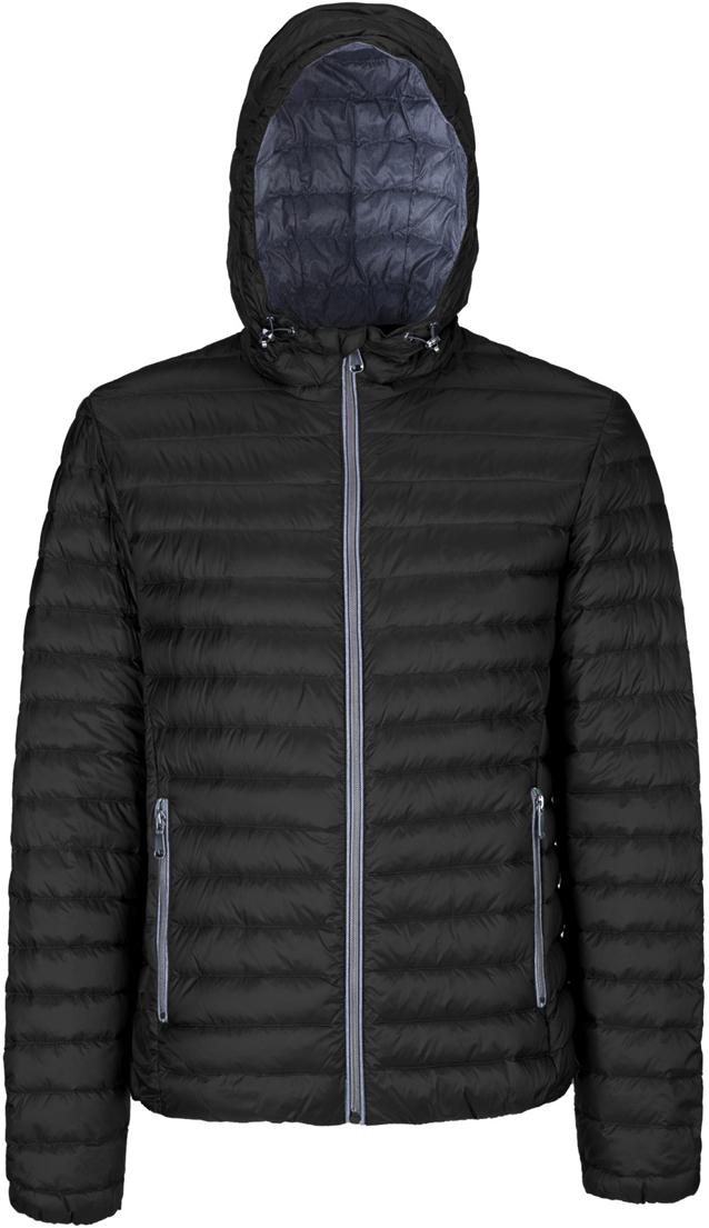 Пуховик мужской Geox, цвет: черный. M8225BT2449F9000. Размер 56 куртка мужская geox цвет темно зеленый m8223et2455f3180 размер 56