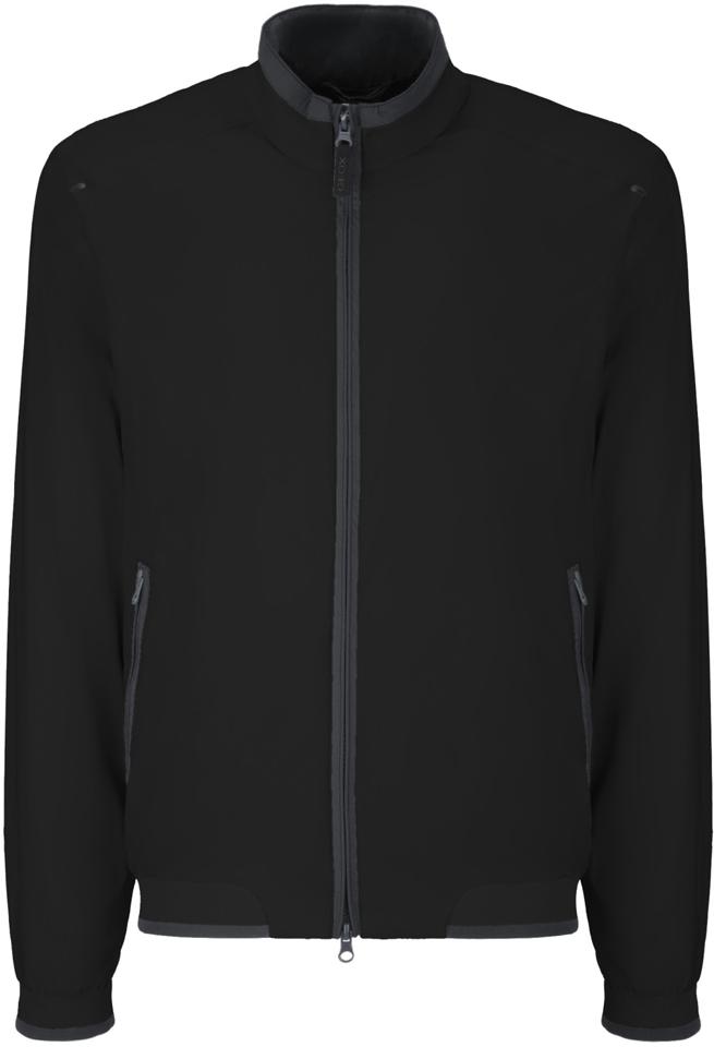 Куртка мужская Geox, цвет: черный. M8223ET2455F9000. Размер 56 куртка мужская geox цвет темно зеленый m8223et2455f3180 размер 56