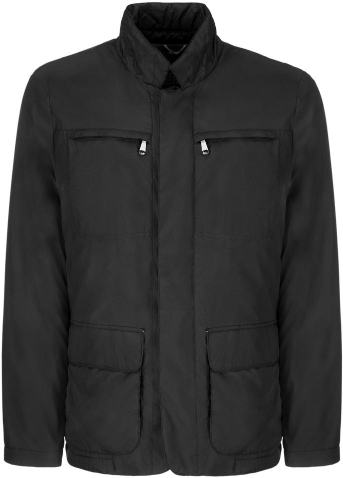 Куртка мужская Geox, цвет: черный. M8221NT2414F9000. Размер 50M8221NT2414F9000Мужскаякуртка Geoxвыполнена из высококачественного материала. Модель с воротником-стойкой и длинными рукавами застегивается на застежку-молнию с ветрозащитной планкой. Изделие оснащено на груди двумя прорезными карманами на застежках-молниях и двумя накладными карманами.Эта стильная куртка послужит отличным дополнением к вашему гардеробу!
