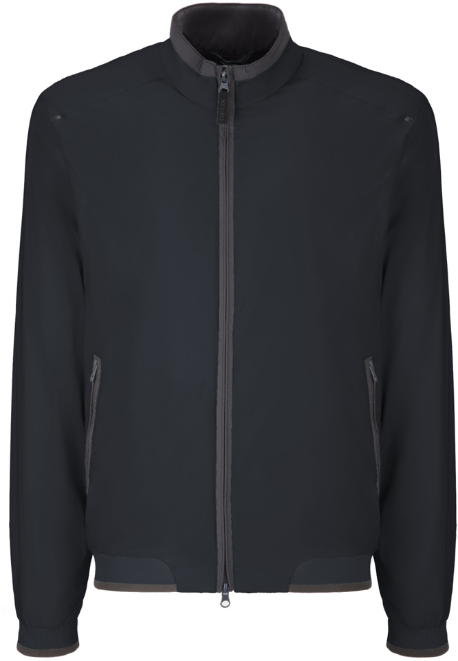 Куртка мужская Geox, цвет: темно-синий. M8223ET2455F4386. Размер 56 куртка мужская geox цвет темно зеленый m8223et2455f3180 размер 56