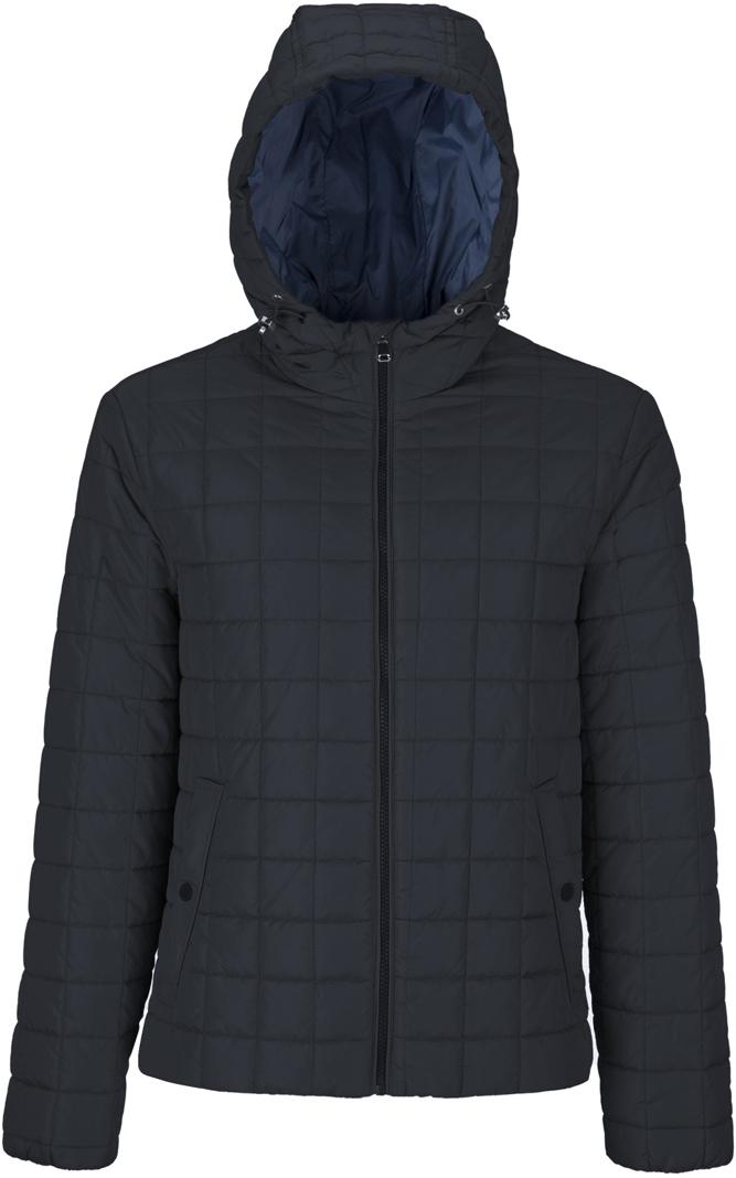 Куртка мужская Geox, цвет: темно-синий. M8221JT2422F4386. Размер 46M8221JT2422F4386Мужскаякуртка Geox с несъемным капюшоном выполнена из высококачественного материала. Модель с воротником-стойкой и длинными рукавами застегивается на застежку-молнию спереди. Спереди расположены два прорезных кармана, застегивающиеся на кнопку.