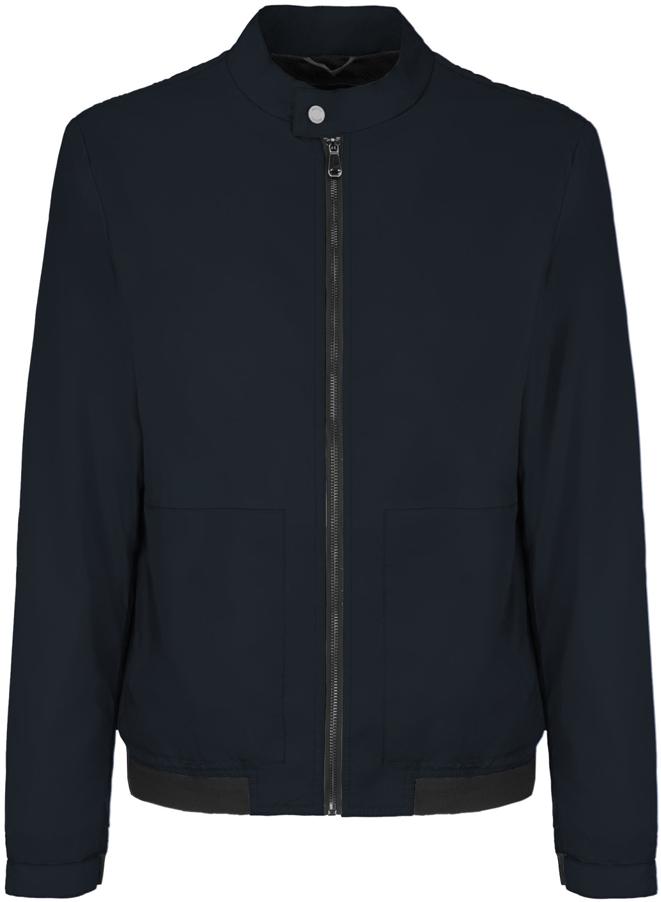 Куртка мужская Geox, цвет: темно-синий. M8220QT2446F4386. Размер 48M8220QT2446F4386Мужскаякуртка Geoxвыполнена из высококачественного материала. Модель с воротником-стойкой и длинными рукавами застегивается на застежку-молнию спереди. Спереди куртка дополнена двумя врезными карманами.