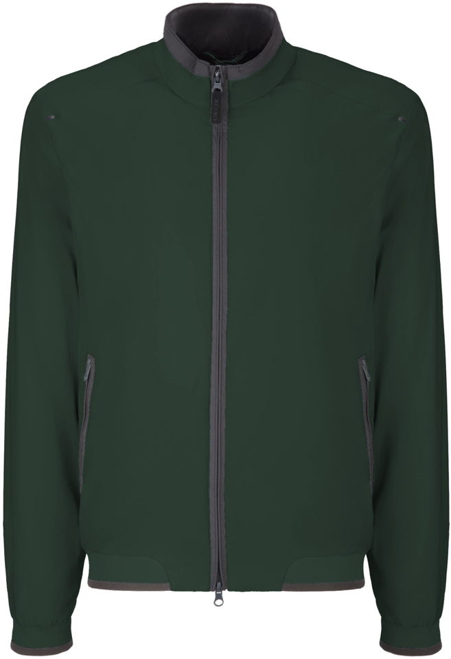 Куртка мужская Geox, цвет: темно-зеленый. M8223ET2455F3180. Размер 56 пуховик мужской geox цвет темно зеленый m8225bt2449f3179 размер 56