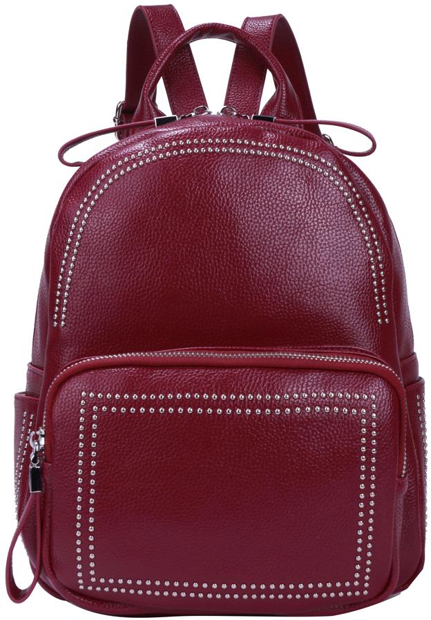 Рюкзак женский OrsOro, цвет: бордовый, 23 x 28 x 11 см. DS-876/3