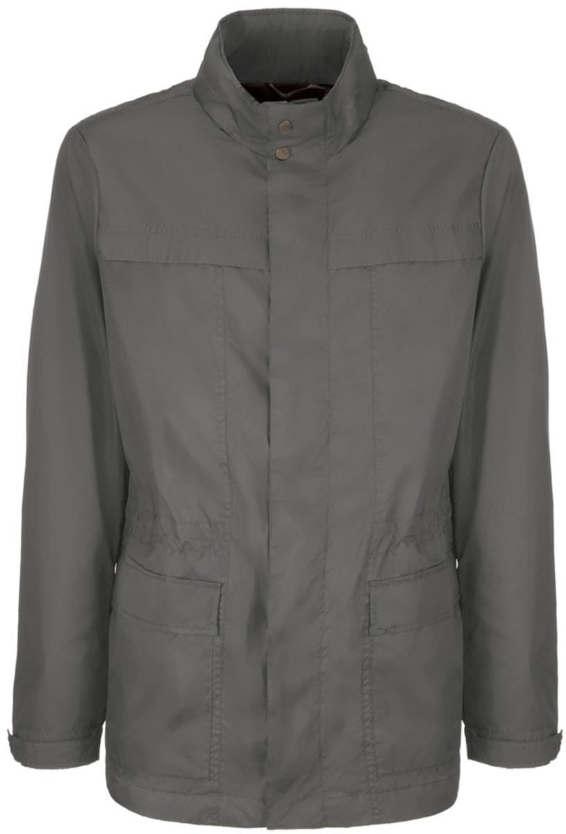 Куртка мужская Geox, цвет: серый металлик. M8220RT2446F1395. Размер 56 куртка мужская geox цвет темно зеленый m8223et2455f3180 размер 56