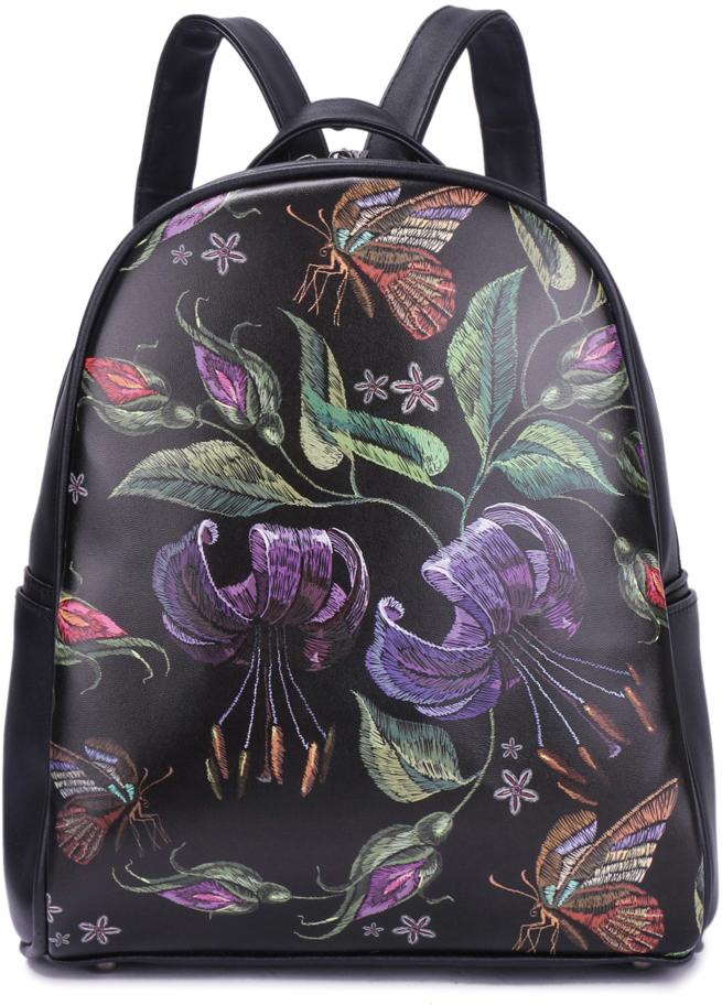 Рюкзак женский OrsOro, цвет: черный, 24 x 19 x 12 см. DS-867/1