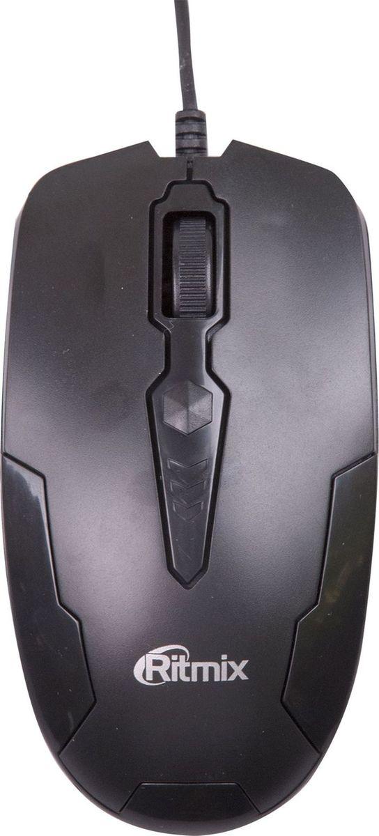 Ritmix ROM-210, Black проводная мышь