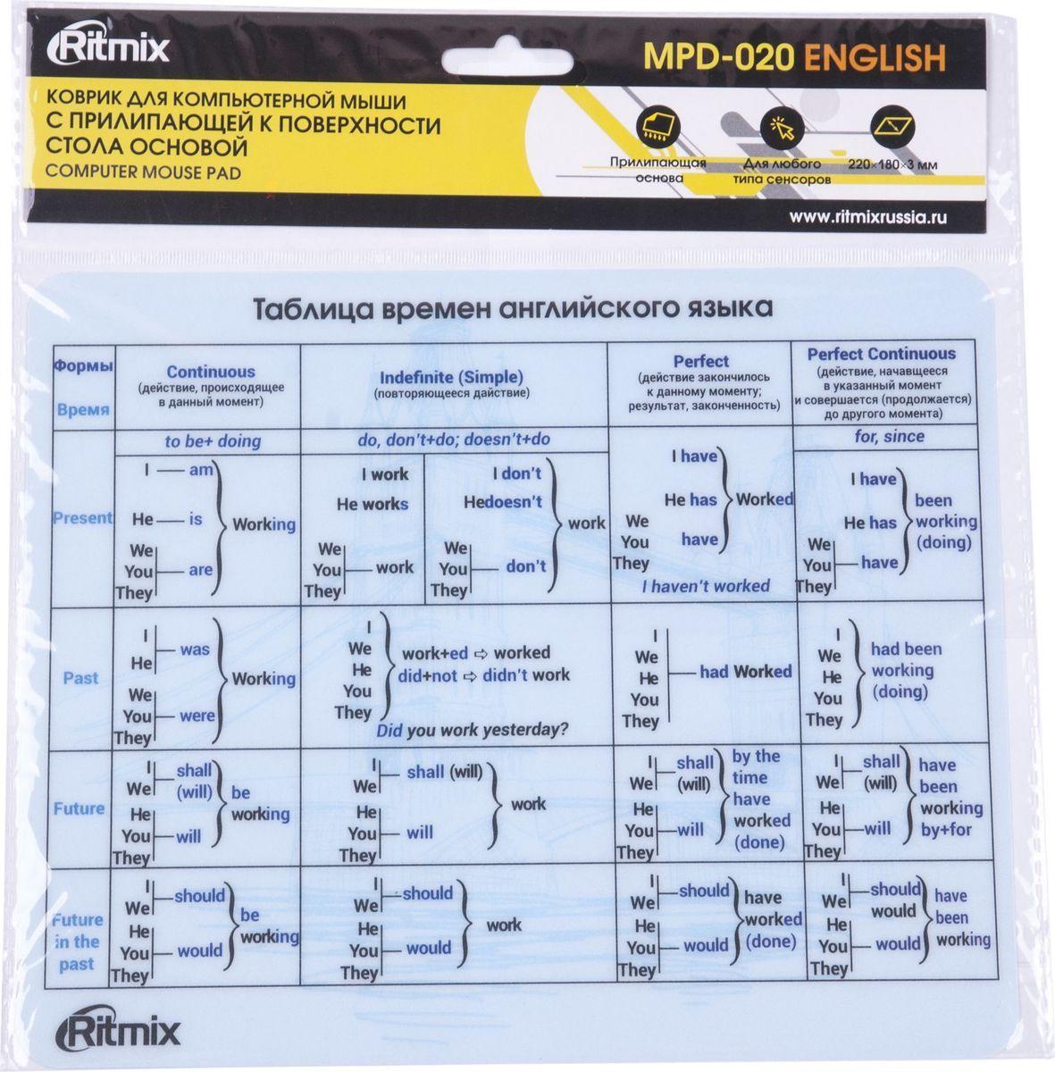 Ritmix MPD-020 English коврик для мыши все цены