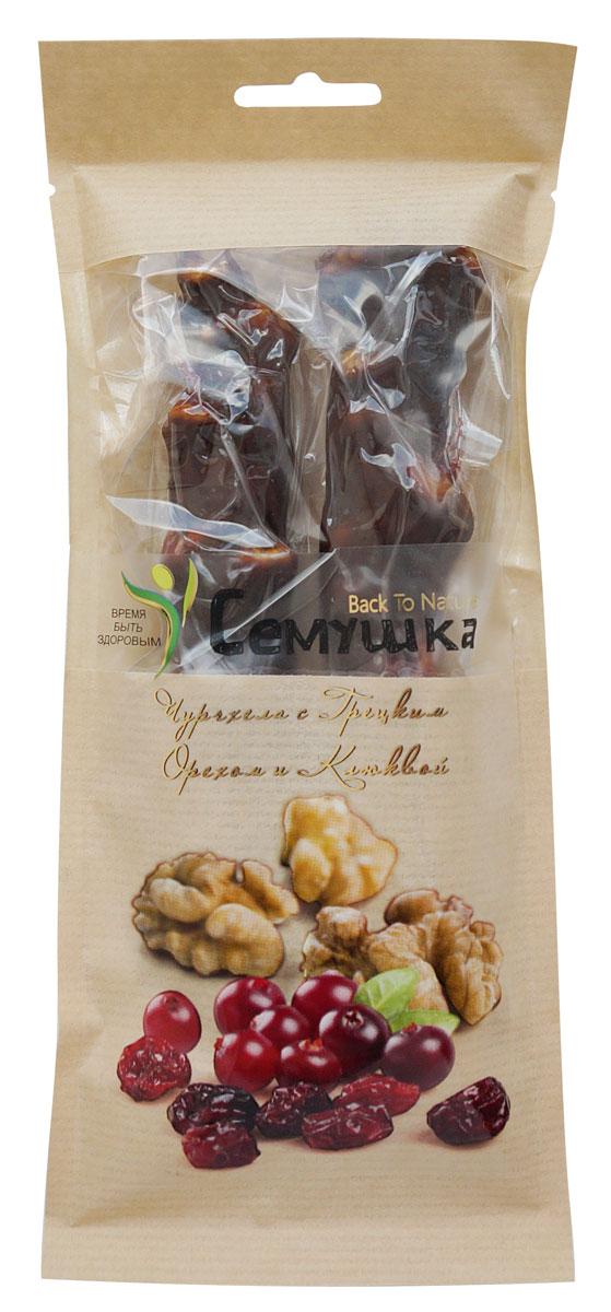 Ядра грецкого ореха, клюква, сахар, мука пшеничная высшего сорта, тутовый сироп, корица, кардамон.