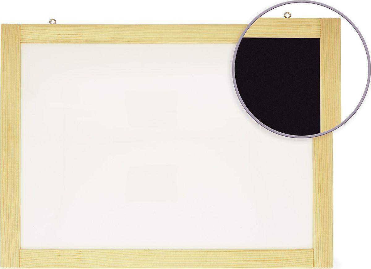 Анданте Доска магнитно-маркерная-меловая двухсторонняя с магнитами 40 х 50 см