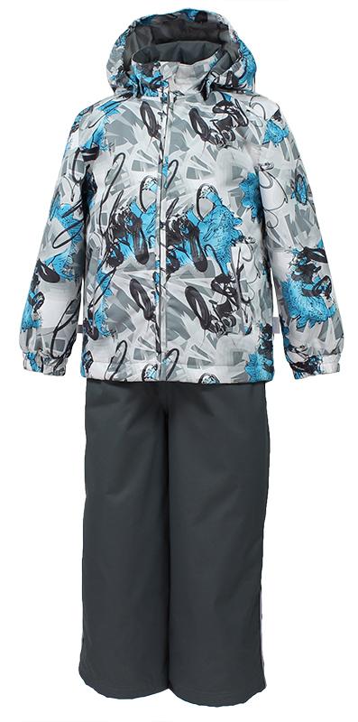 Комплект верхней одежды детский Huppa Yoko 1: куртка, брюки, цвет: серый. 41190004-82248. Размер 11041190104-82248Комплект верхней одежды детский Huppa Yoko 1 состоит из курткии брюк. Функциональная куртка изготовлена из износостойкого, дышащего,водо- и ветронепроницаемого материала с водо- и грязеотталкивающейповерхностью. Все швы проклеены, водонепроницаемы. Съемный капюшонзащищает от холодного ветра. В брюках имеется ширинка на молнии ирегулируемые эластичные подтяжки. Комплект снабжен светоотражателями. Вкуртке предусмотрены два кармана на молнии.Полная функциональность: отповседневного комфорта до экстремальных условий.Водо- и воздухонепроницаемость 10 000 (так же в модельном ряду есть комбинированные изделия 5 000 вверх / 10 000 низ). Утеплитель: куртка 40 г, брюки 40 г. Отличительные особенности: швы проклеены, отстегивающийся капюшон, капюшон на резинке, манжеты рукавов на резинке, регулируемые низы, эластичный шнур с фиксатором, съемные резиновые подтяжки, добавлены петли для подтяжек.