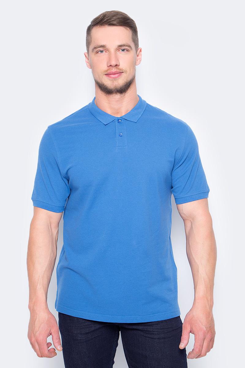 Поло мужское Sela, цвет: глубоководный синий. Tsp-211/1217-8152. Размер XS (44)